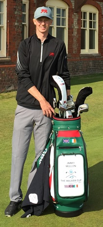 JIMMY MULLEN photographed by Royal North Devon GC professional/coach Michael Wilson before 2015 Walker Cup