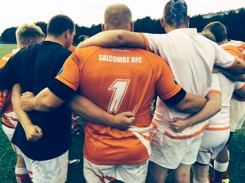 Salcombe RFC huddle image South West Sports News