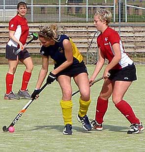 west clubs womens hockey league action