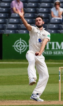 Gloucestershire CCC pace ace MATT TAYLOR courtesy & copyright Gloucestershire County Cricket Club