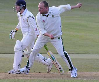 Pethers in full flight, club cricket