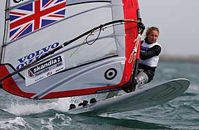 windsurfing star izzy hamilton, courtesy and copyright RYA / Paul Wyeth
