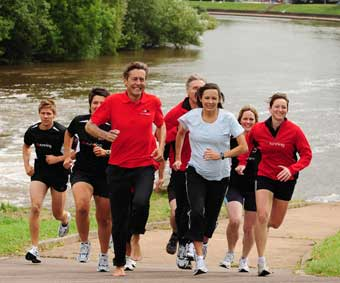 ben bradshaw and jo pavey launching run in england by the river exe, courtesy & copyright phil mingo/pinnacle